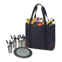 Picnic at Ascot Large Insulated Picnic Tote for Four Navy