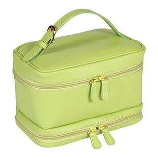 Women's Royce Leather Cosmetic Travel Case 270-6 Key Lime Green Leather