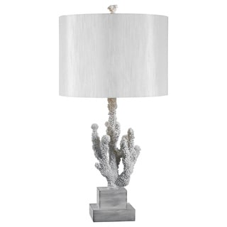 White Resin Coral Reef Table Lamp