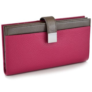 Alicia Klein Pink Checkbook Clutch