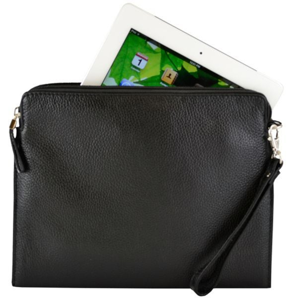 Alicia Klein Black Tablet Sleeve/ Wristlet