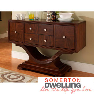 Somerton Dwelling' Rich Walnut Hardwood Dolce Server