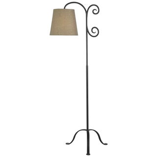 Becker Bronze Graphite Floor Lamp