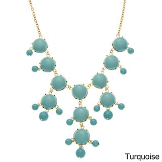 Alexa Starr Goldtone Colored Lucite Bubble Necklace