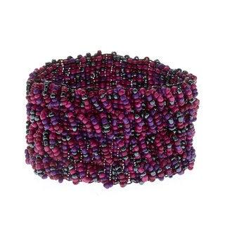 Alexa Starr Tonal Woven Glass Bead Stretch Bracelet
