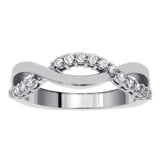 14k White Gold 3/8ct TDW Twist Diamond Ring (F-G, SI1-SI2)