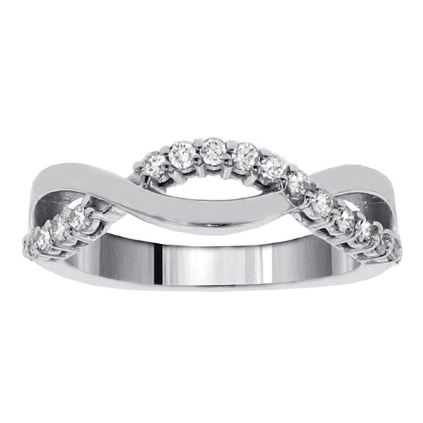 14k White Gold 1/4ct TDW Twist Diamond Ring (G-H, SI1-SI2)