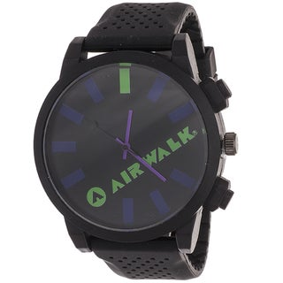 AIRWALK Men's 'Rage' Black Dial Watch