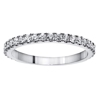 14k White Gold 5/8ct TDW Round Cut Diamond Wedding Band (F-G, SI1-SI2)