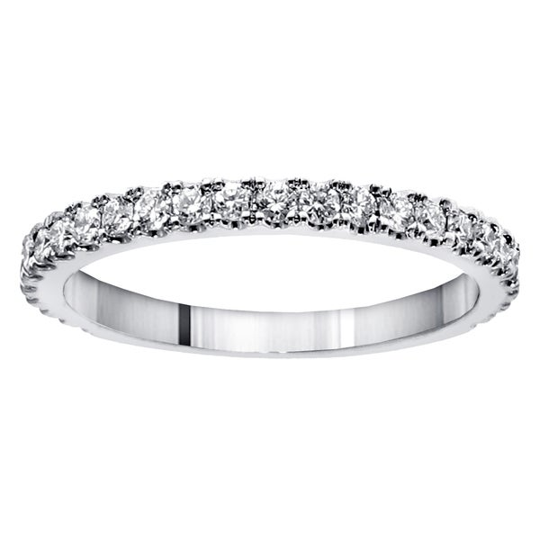 14k/ 18k Gold or Platinum 5/8ct TDW Round-cut Diamond Wedding Band (G-H, SI1-SI2)