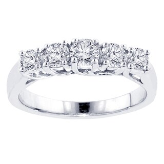 1ct TDW Five Stone Diamond Band (G-H, SI1-SI2)