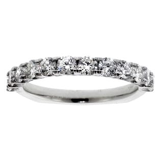 14k White Gold 1 2/5ct TDW Round Diamond Wedding Band (F-G, SI1-SI2)