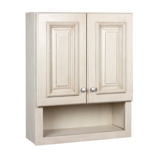 Elegant  Best Tuscany Maple Door Bathroom Wall Cabinet Offer