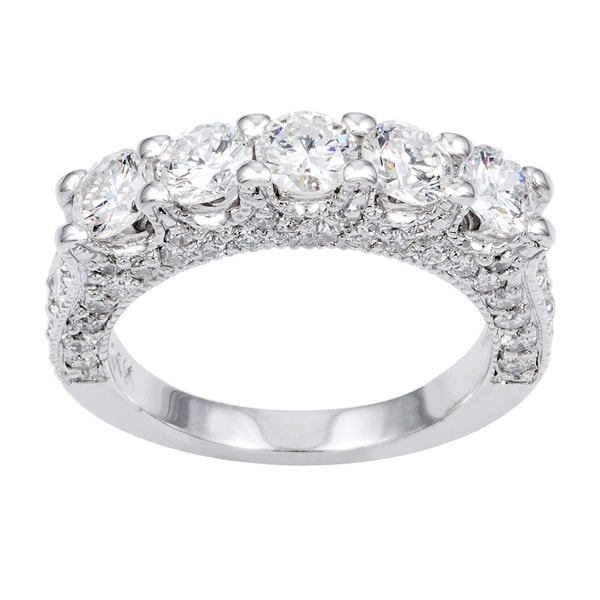 14k White Gold 2 1/2ct TDW Diamond Wedding Band (G-H, SI1-SI2)