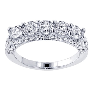 14k White Gold 2 1/2ct TDW Diamond Wedding Band (F-G, SI1-SI2)