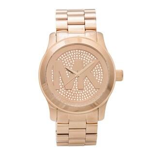 Michael Kors Women's MK5661 'Runway' Rose Tone Stainless Steel Watch