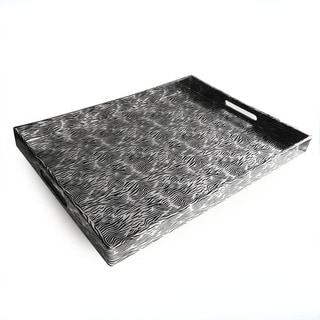 Silver/ Black Tray