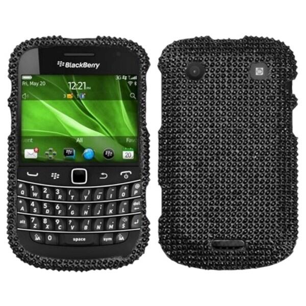 INSTEN Black Diamante Phone Case Cover for RIM Blackberry Bold 9930/ 9900