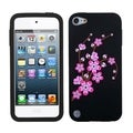 BasAcc Spring Flowers/ Black Pastel Skin Case for Apple iPod touch 5