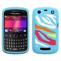 BasAcc Rainbow Zebra/ Blue Case for Blackberry Curve 9360/ 9350/ 9370