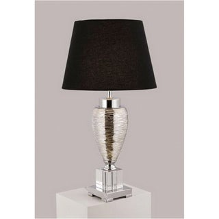 Chrome/ Black Contemporary Table Lamp