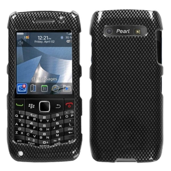 INSTEN Carbon Fiber Phone Case Cover for RIM Blackberry 9100 Pearl 3G