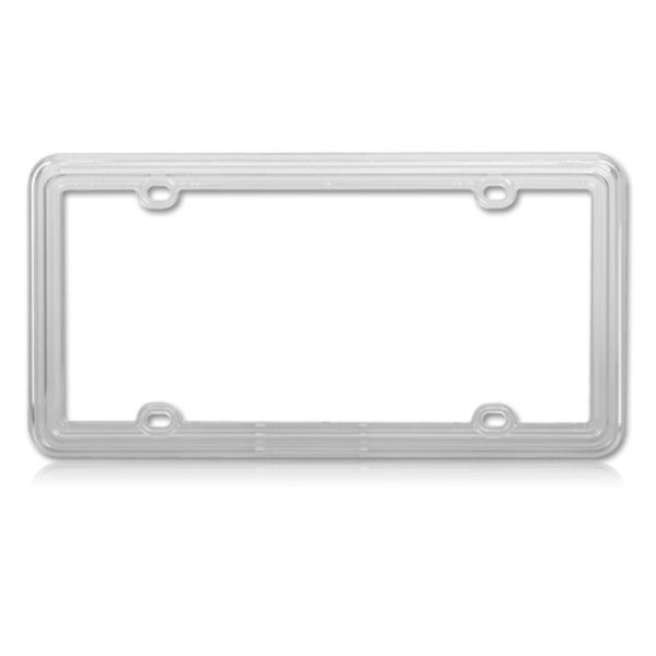 INSTEN T-clear Plastic License Plate Frame