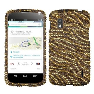 BasAcc Tiger Skin Camel/ Brown Diamante Case for LG E960 Nexus 4
