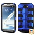 BasAcc Dark Blue/ Black Fishbone Hybrid Case for Samsung Galaxy Note 2