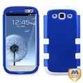 BasAcc Dark Blue/ White TUFF Hybrid Case for Samsung Galaxy S III/ S3