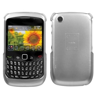 INSTEN 2D Silver Phone Case Cover for RIM Blackberry Curve 8520/ 8530/ 9300