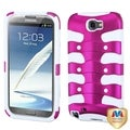 BasAcc Pink/ White Ribcage Case for Samsung Galaxy Note II T889/ I605