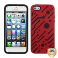 BasAcc Titanium Red/ Black Circuitboard Hybrid Case for Apple iPhone 5