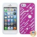 BasAcc Hot Pink/ White Circuitboard Hybrid Case for Apple iPhone 5