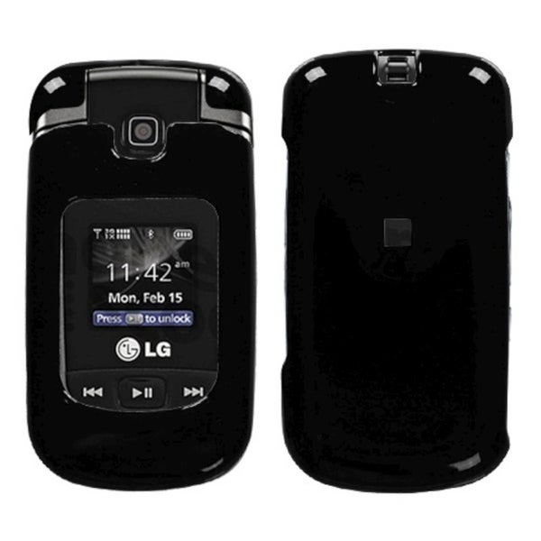 INSTEN Solid Black Phone Case Cover for LG VX8370 Clout