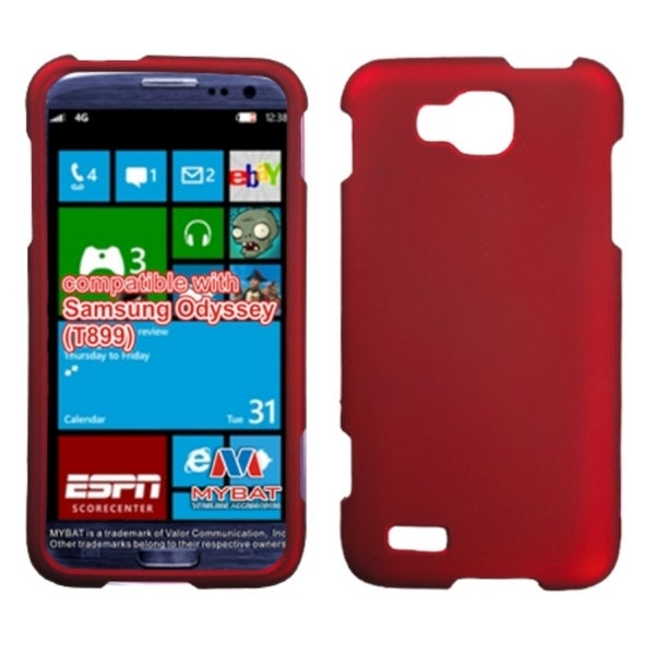 INSTEN Titanium Solid Red Phone Case Cover for Samsung T899 Odyssey