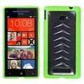 BasAcc Clear/ Green Gummy Case for HTC Windows Phone 8X