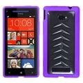 BasAcc Clear/ Purple Gummy Case for HTC Windows Phone 8X