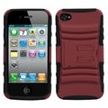 BasAcc Red/ Black Case with Stand for Apple iPhone 4/ 4S