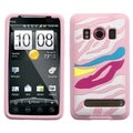 BasAcc Rainbow Zebra/ Pink Pastel Case for HTC Evo 4G
