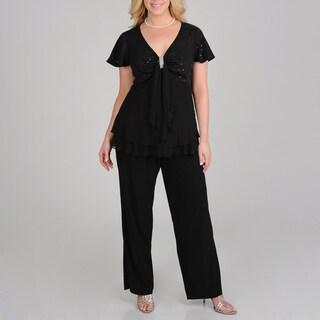R & M Richards Plus Size 2-piece Pant Set