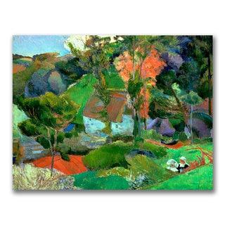 Paul Gauguin 'Landscape at Pont Aven' Canvas Art