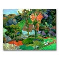 Paul Gauguin 'Landscape at Pont Aven' Canvas Art