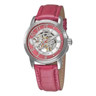 Stuhrling Original Women's Cleopatra Automatic Skeleton Leather Strap Watch