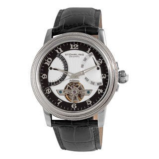 Stuhrling Original Men's 'Saturnalia' Automatic Leather Strap Watch