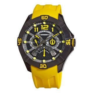 Stuhrling Original Men's Gen-X Mastermind Quartz Rubber Strap Watch