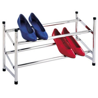 Richards Homewares 2-tier Chrome Expandable Shoe Rack
