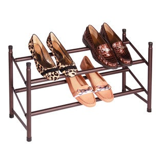 Richards Homewares Metallic Bronze Stacking Telescoping Shoe Rack