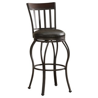 Lara Swivel Stool with Leather Seat