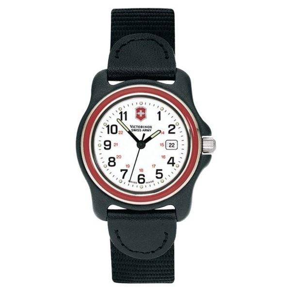 Victorinox Swiss Army Women's Original White Dial Red Bezel Nylon Watch